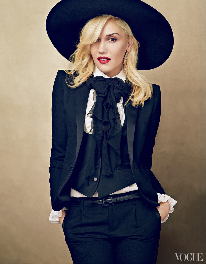 gwen stefani cover 1 125119946957 Gwen Stefani Covers Vogue US January 2013 in Saint Laurent