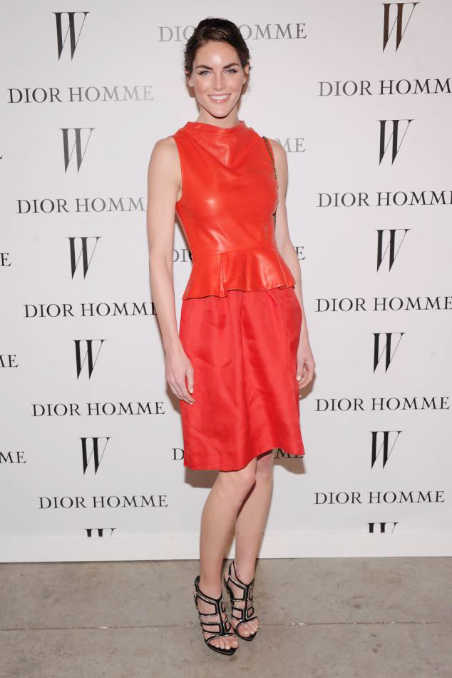 hilary Hilary Rhoda in Dior at Dior Homme Boutique Opening