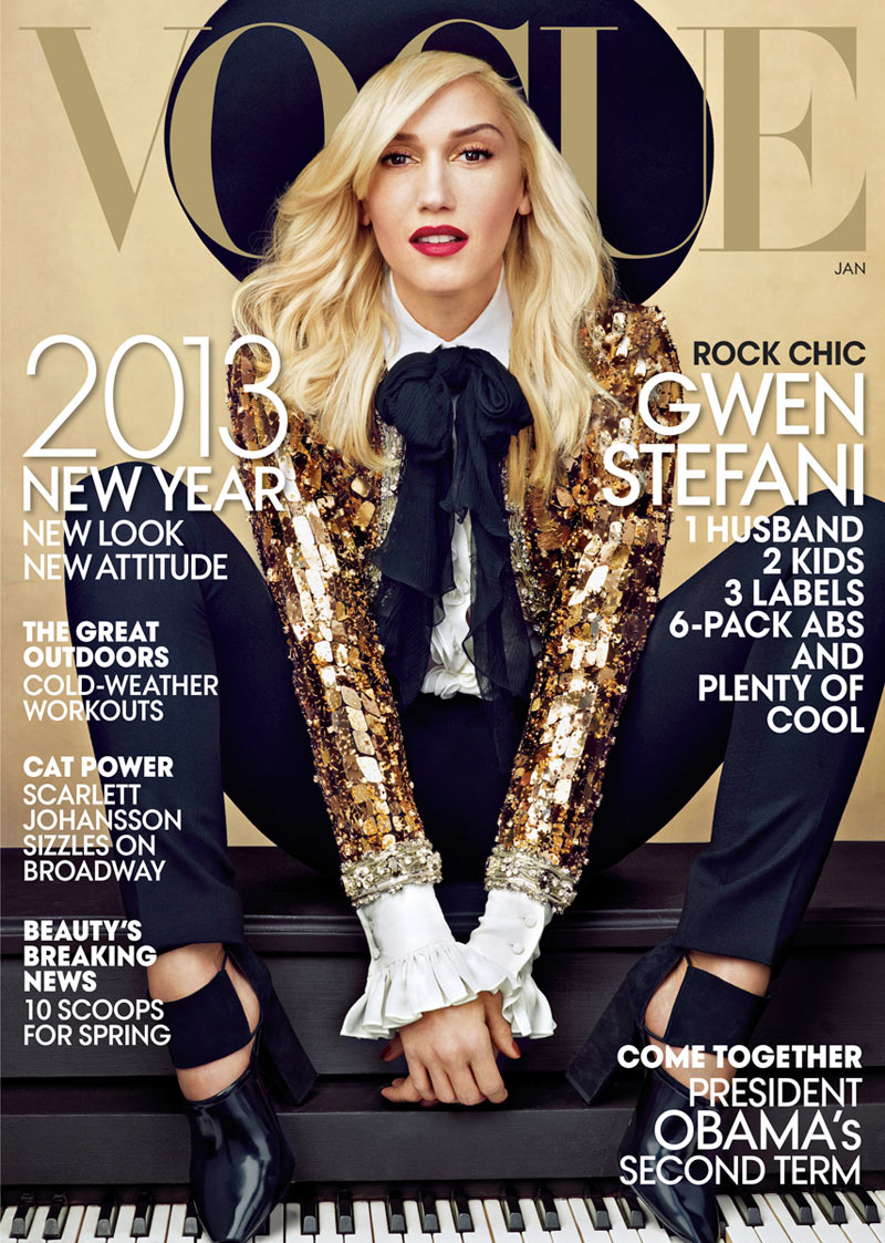 img gwenstefanicover3 001448242220 Gwen Stefani Covers Vogue US January 2013 in Saint Laurent