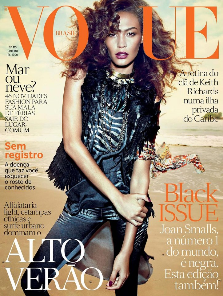 joanbrazil Joan Smalls Covers the January 2013 Issue of Vogue Brazil