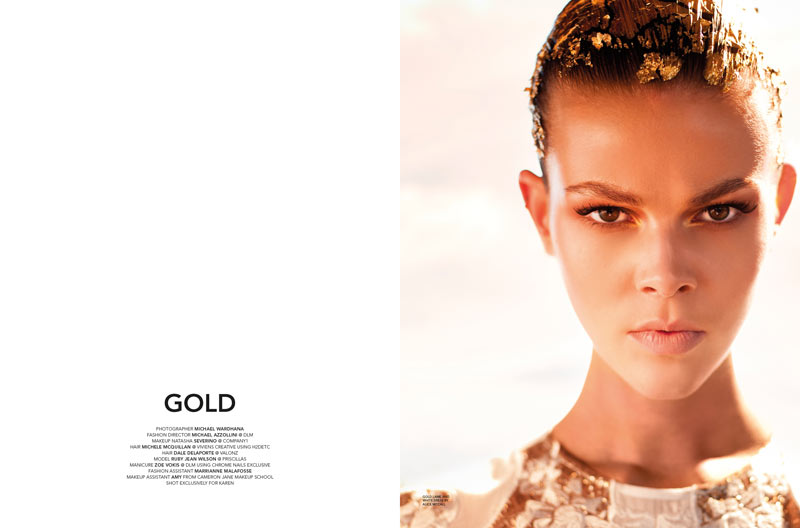 Ruby Jean Wilson Charms in Gold Looks for Karen Magazine #14