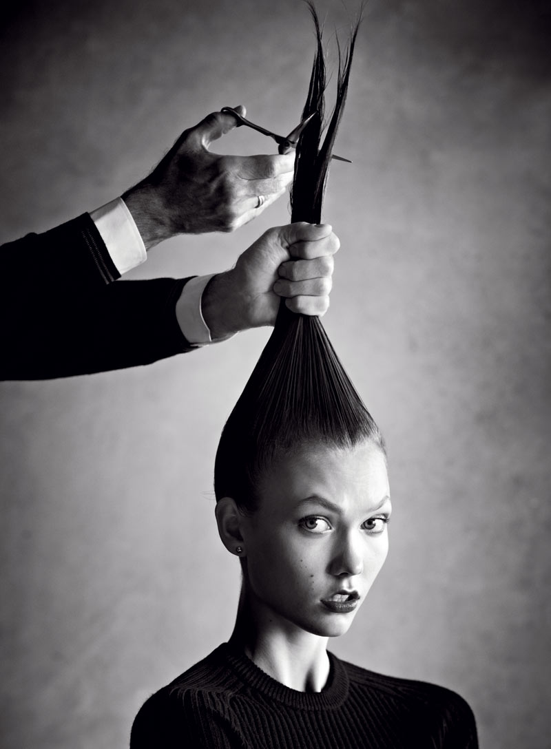 karlie1 Karlie Kloss Takes the Big Chop for Vogue US January 2013