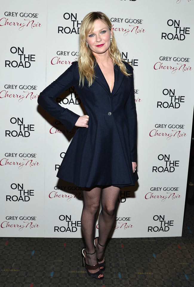 kirsten2 Kirsten Dunst in Dior at the On the Road New York Premiere