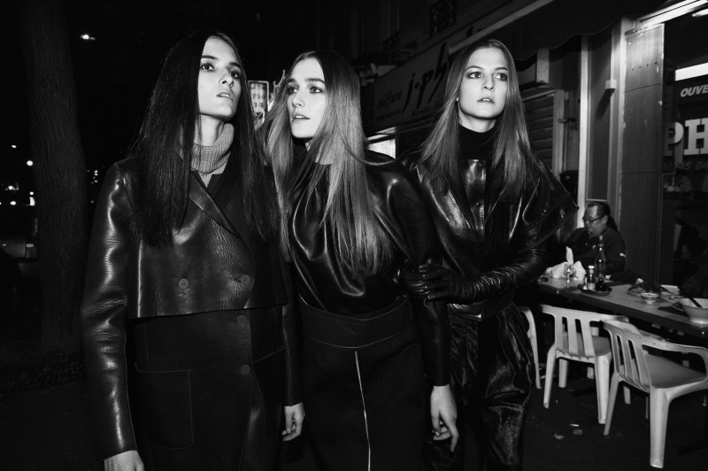 leather2 Josephine Le Tutour, Emeline Ghesquiere and Maja Milosavljevic Are Leather Girls for M Le Monde by Ward Ivan Rafik