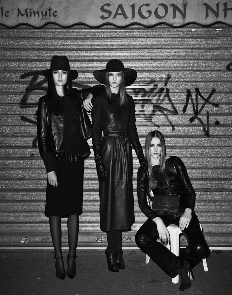 leather3 Josephine Le Tutour, Emeline Ghesquiere and Maja Milosavljevic Are Leather Girls for M Le Monde by Ward Ivan Rafik