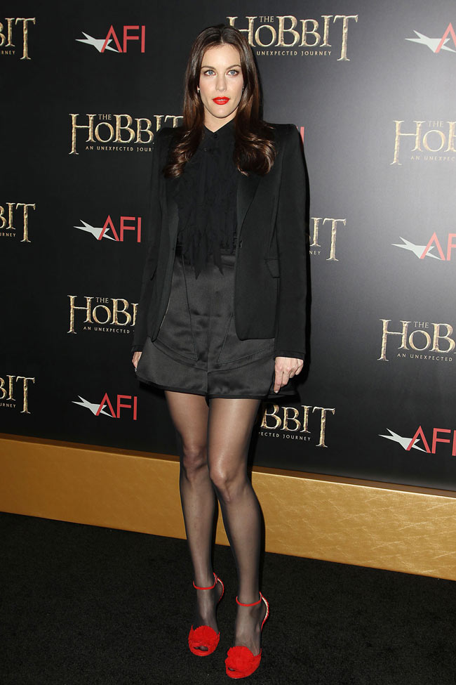 liv1 Liv Tyler in Givenchy at The Hobbit: An Unexpected Journey New York Premiere