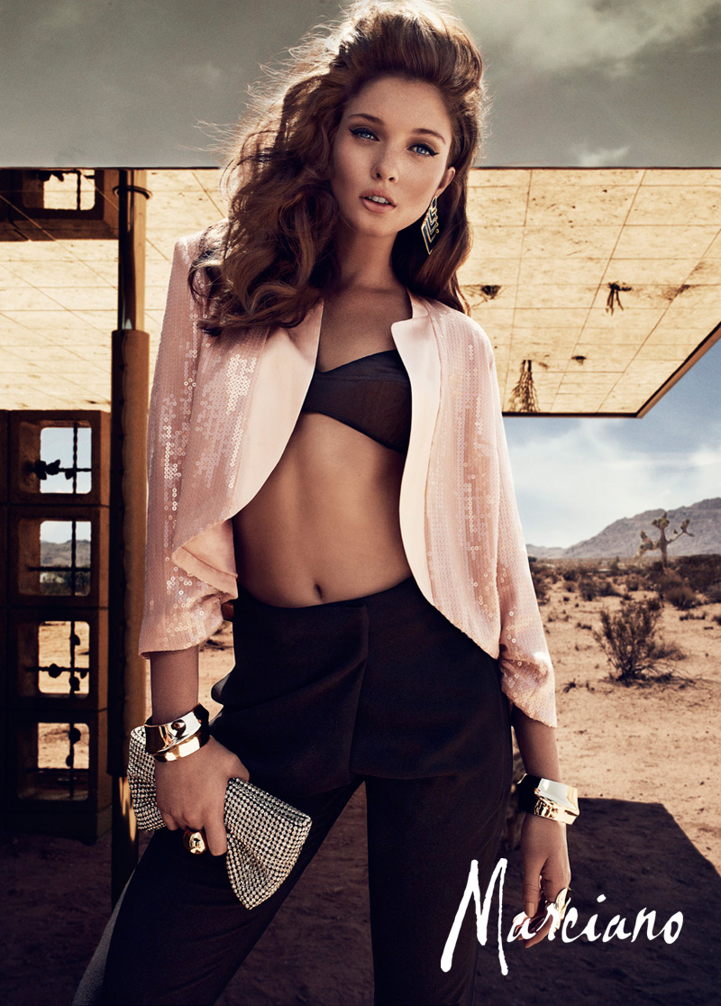 Sandrah Hellberg Smolders in Marciano's Holiday 2012 Campaign by Hunter & Gatti