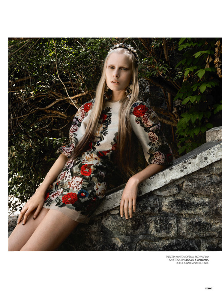 marie claire5 Sally Jonsson Gets Romantic for Marie Claire Greece by Thanassis Krikis