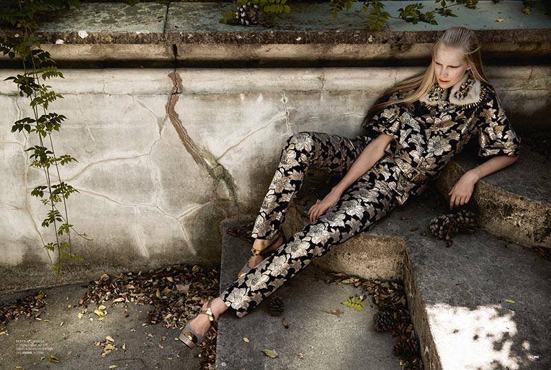 Sally Jonsson Gets Romantic for Marie Claire Greece by Thanassis Krikis