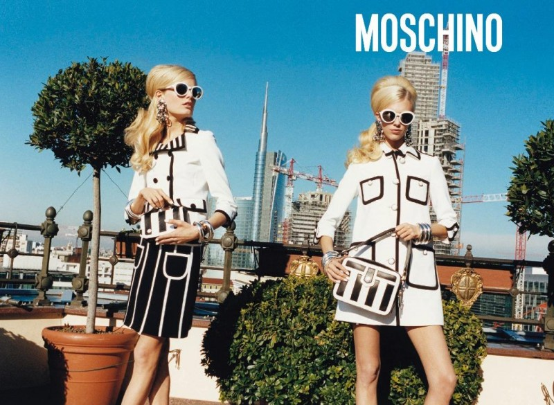 Moschino Heads to Milan for its Spring 2013 Campaign Starring Hanne Gaby Odiele and Juliana Schurig