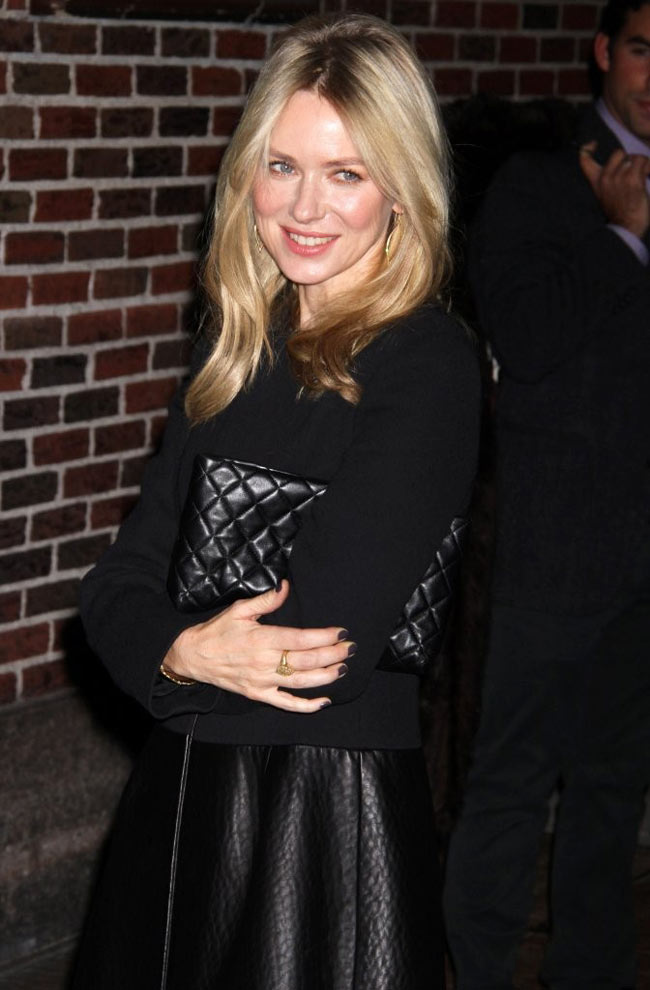 naomi2 Naomi Watts in Calvin Klein Collection at The Late Show with David Letterman