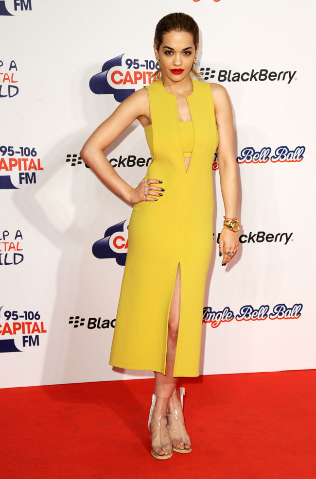 orarita calvin klein collection jingle bell ball london 120912 ph wire image global 6 mos Rita Ora in Calvin Klein Collection at the 2012 Jingle Bell Ball