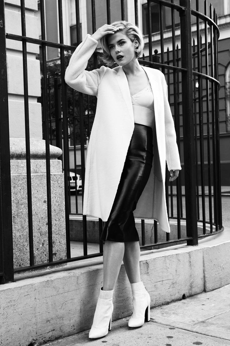 Rachael Taylor Sports Glam Style for Twelv Magazine, Shot by Michael Flores