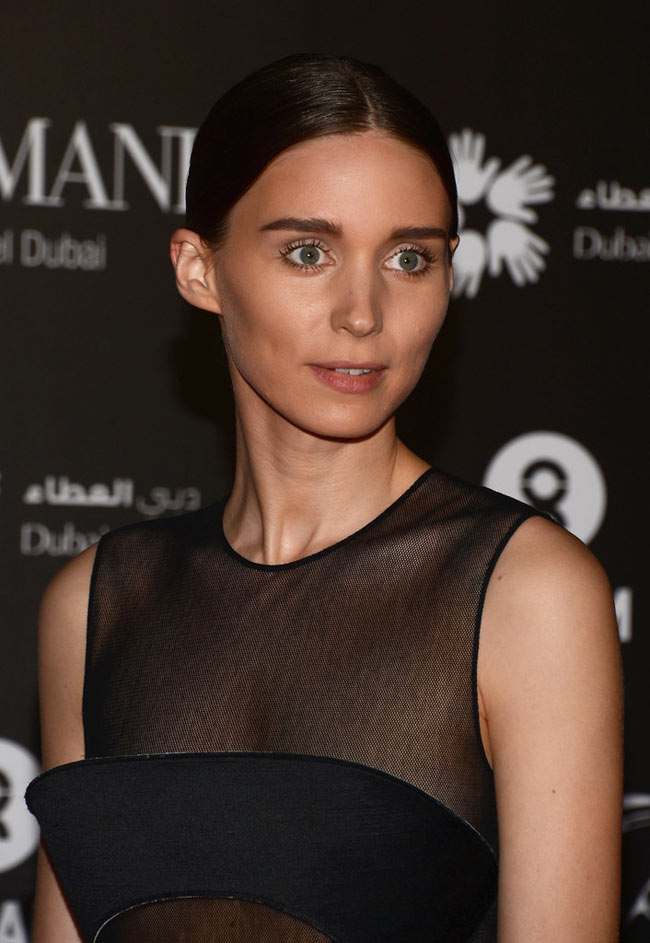 "rooney1 Rooney Mara in Calvin Klein Collection at the 2012 One Night to Change Lives"" Gala"