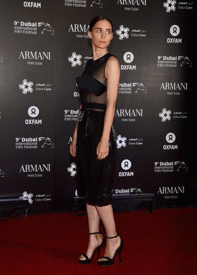 "rooney2 Rooney Mara in Calvin Klein Collection at the 2012 One Night to Change Lives"" Gala"