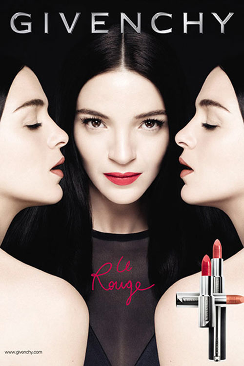 rouge1 Mariacarla Boscono Fronts Givenchy Le Rouge Makeup Campaign