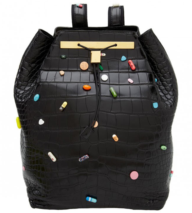 row2 Damien Hirst and The Row Collaborate on Decorated Backpacks for Just One Eye