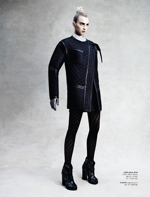 sigrid agren6 Sigrid Agren Wears Futuristic Outerwear for S Magazine
