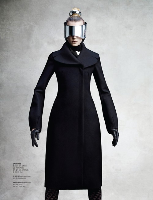 sigrid agren9 Sigrid Agren Wears Futuristic Outerwear for S Magazine
