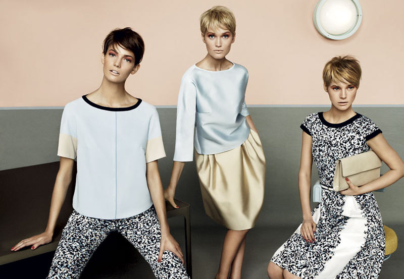 stu02 pe13 coll car zoom Toni Garrn, Kendra Spears and Juju Ivanyuk Are Retro Chic for Max Mara Studio Spring 2013 Campaign