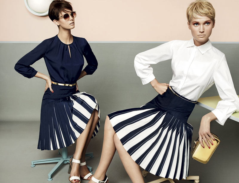 stu04 pe13 coll car zoom Toni Garrn, Kendra Spears and Juju Ivanyuk Are Retro Chic for Max Mara Studio Spring 2013 Campaign