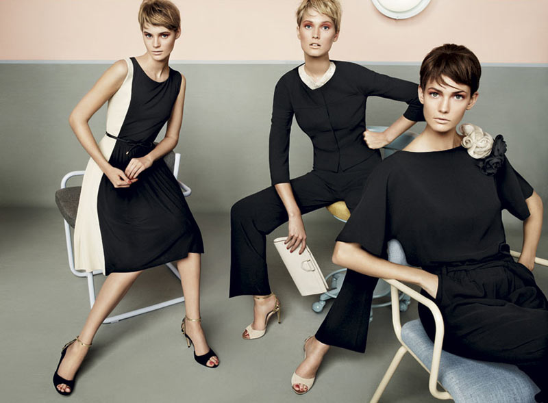 stu05 pe13 coll car zoom Toni Garrn, Kendra Spears and Juju Ivanyuk Are Retro Chic for Max Mara Studio Spring 2013 Campaign