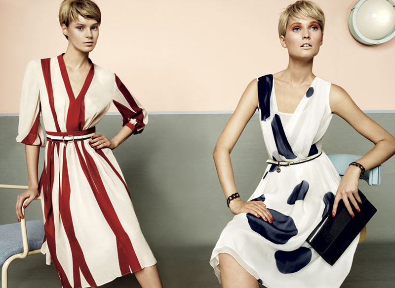 stu07 pe13 coll car zoom Toni Garrn, Kendra Spears and Juju Ivanyuk Are Retro Chic for Max Mara Studio Spring 2013 Campaign