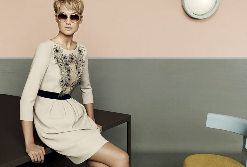 stu08 pe13 coll car zoom Toni Garrn, Kendra Spears and Juju Ivanyuk Are Retro Chic for Max Mara Studio Spring 2013 Campaign
