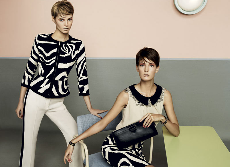 stu09 pe13 coll car zoom Toni Garrn, Kendra Spears and Juju Ivanyuk Are Retro Chic for Max Mara Studio Spring 2013 Campaign