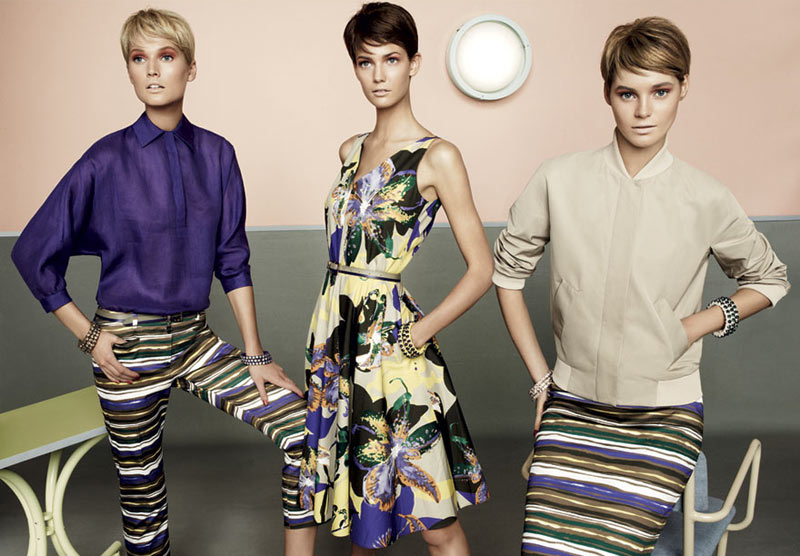 stu10 pe13 coll car zoom Toni Garrn, Kendra Spears and Juju Ivanyuk Are Retro Chic for Max Mara Studio Spring 2013 Campaign