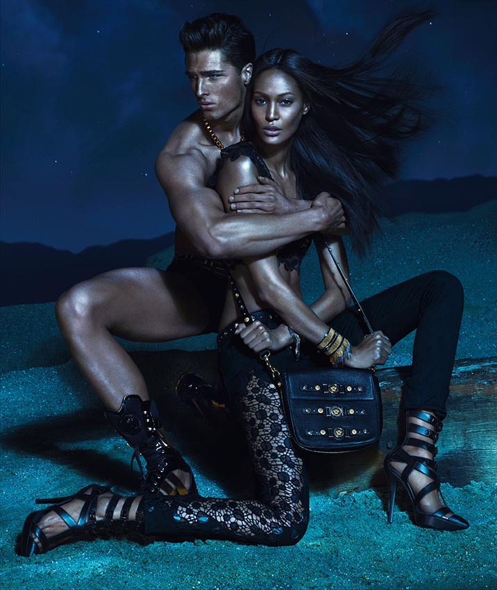 versacespring2 Versace Enlists Kate Moss, Daria Werbowy and Joan Smalls for its Spring 2013 Campaign