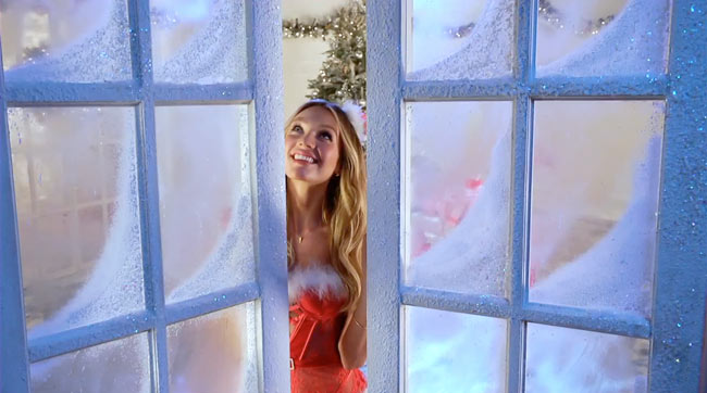 vsf Victorias Secret Angels Sing Deck the Halls in Holiday Film
