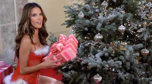 vsf1 Victorias Secret Angels Sing Deck the Halls in Holiday Film