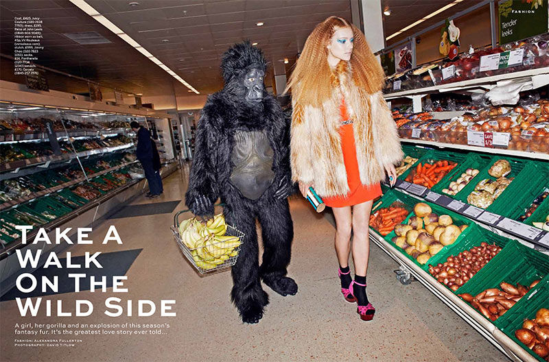Justina G. Takes a Walk on the Wild Side for Stylist Magazine