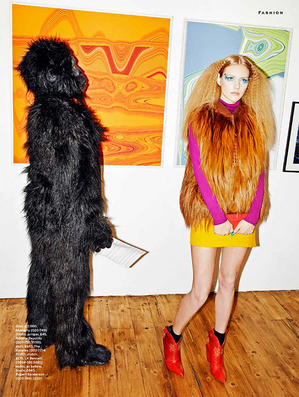 wild3 Justina G. Takes a Walk on the Wild Side for Stylist Magazine