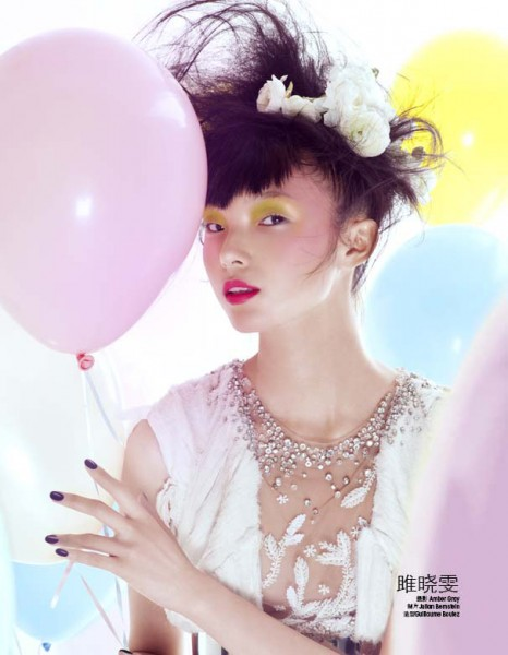 Xiao Wen Ju Celebrates for Marie Claire China's December Issue by Amber Gray