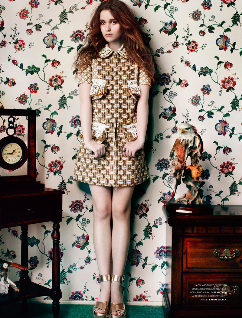 125 ALICE ENGLERT 1 Alice Englert Dons Whimsical Resort Style for Flaunt Magazine