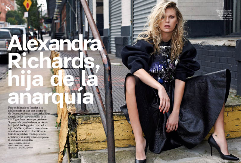 AlexandraModa1 Alexandra Richards Paints a Rebellious Picture for S Moda January 2013 by Eric Guillemain