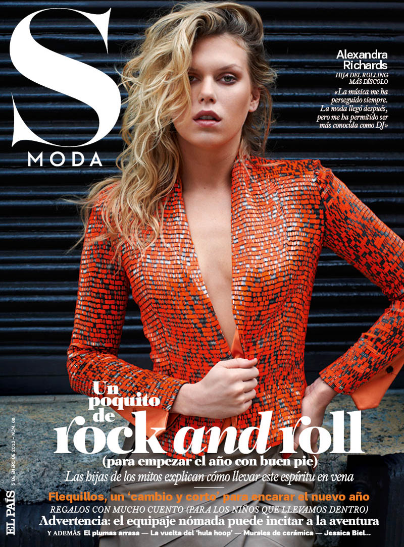 AlexandraModa5 Alexandra Richards Paints a Rebellious Picture for S Moda January 2013 by Eric Guillemain