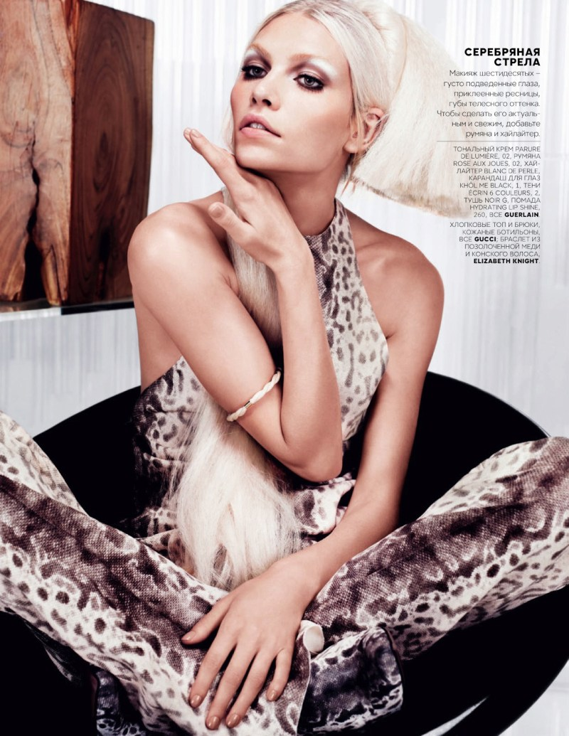 AlineVogueRu2 Aline Weber Models Glam Looks for Vogue Russia February 2013 by Catherine Servel