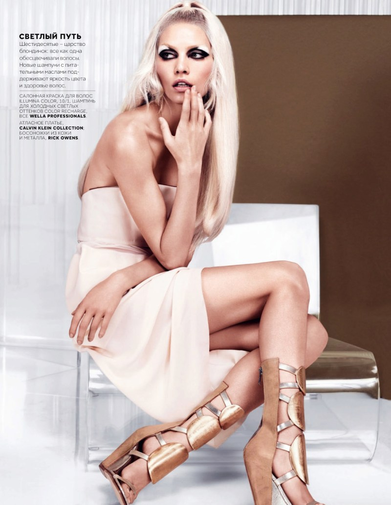 AlineVogueRu3 Aline Weber Models Glam Looks for Vogue Russia February 2013 by Catherine Servel