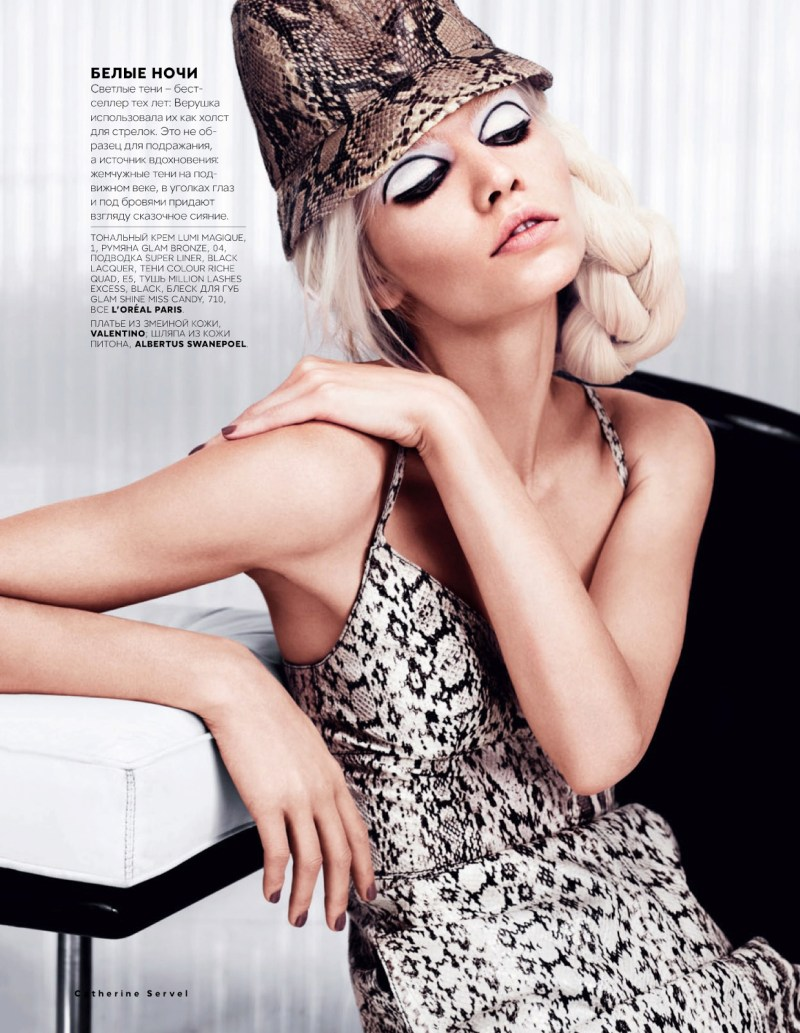 AlineVogueRu4 Aline Weber Models Glam Looks for Vogue Russia February 2013 by Catherine Servel