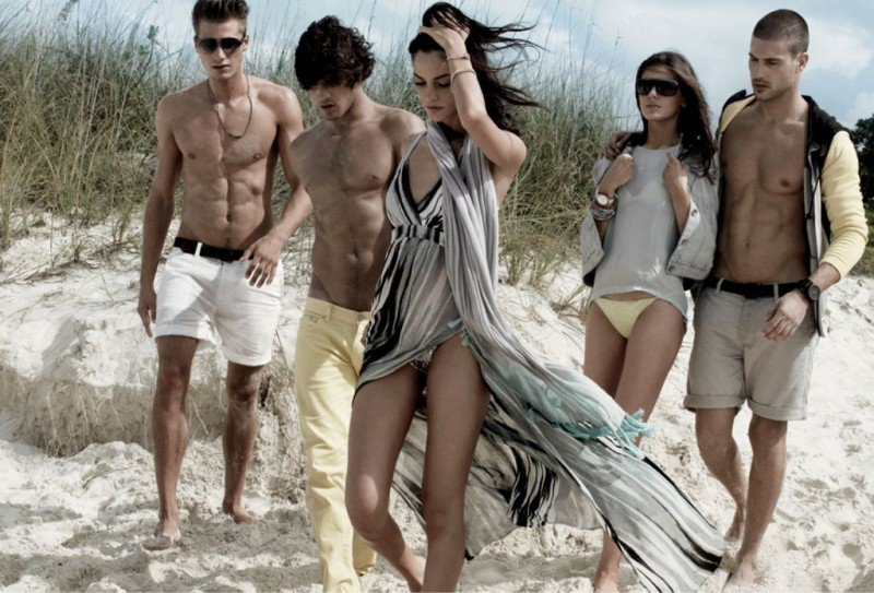 Alejandra Alonso and Camila Queiroz Are Island Dwellers for Armani Exchange's Spring 2013 Campaign