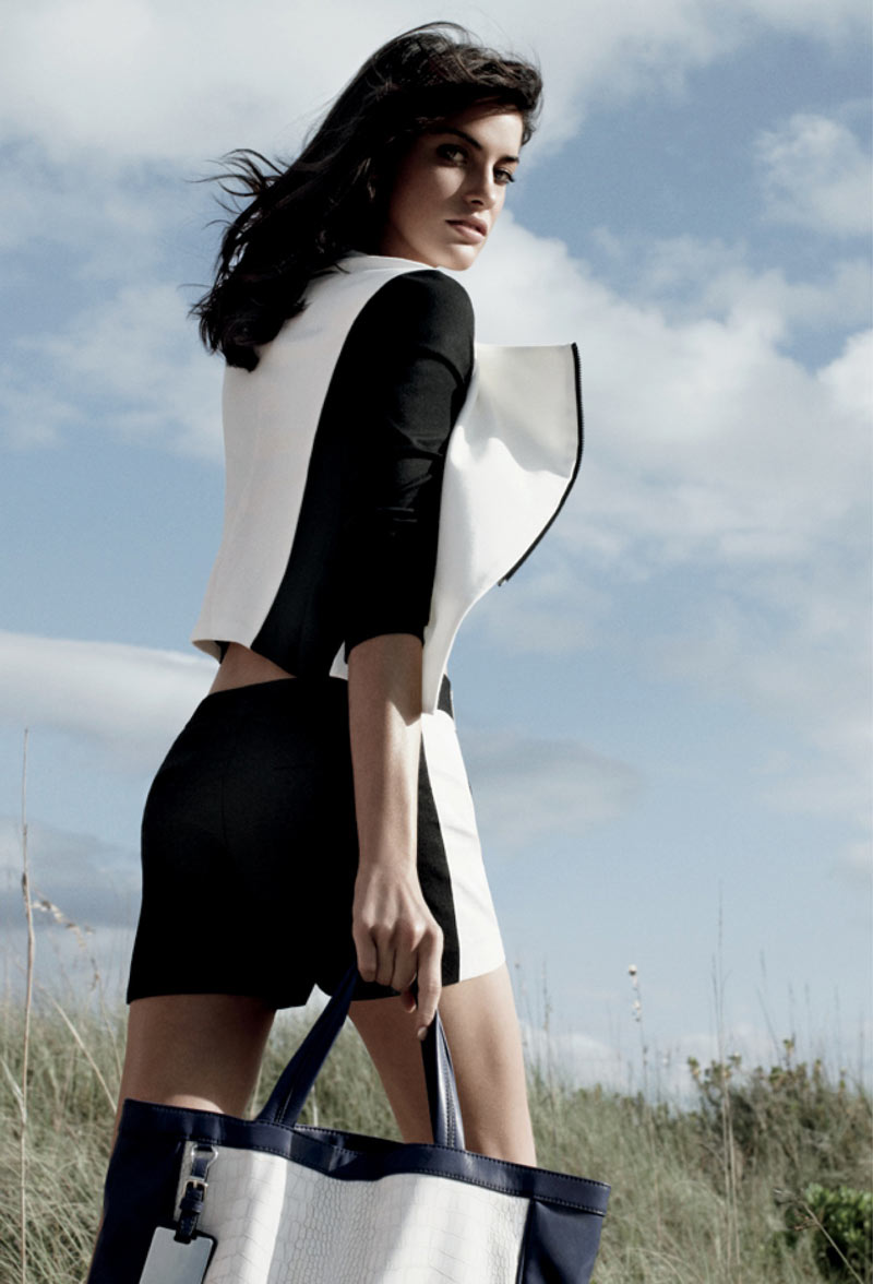 ArmaniExchange4 Alejandra Alonso and Camila Queiroz Are Island Dwellers for Armani Exchanges Spring 2013 Campaign