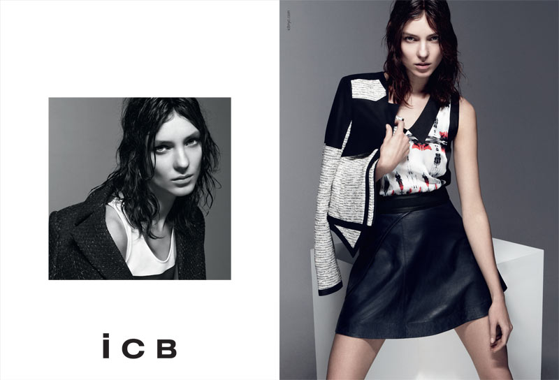 BW ICB US S13 PRESSDP02 Kati Nescher Fronts iCB Spring 2013 Campaign by Daniel Jackson