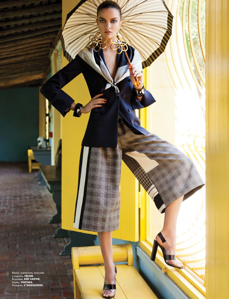 BarbaraElle3 Barbara Fialho Gets Tropical for Elle Mexico January 2013, Shot by Danny Cardozo