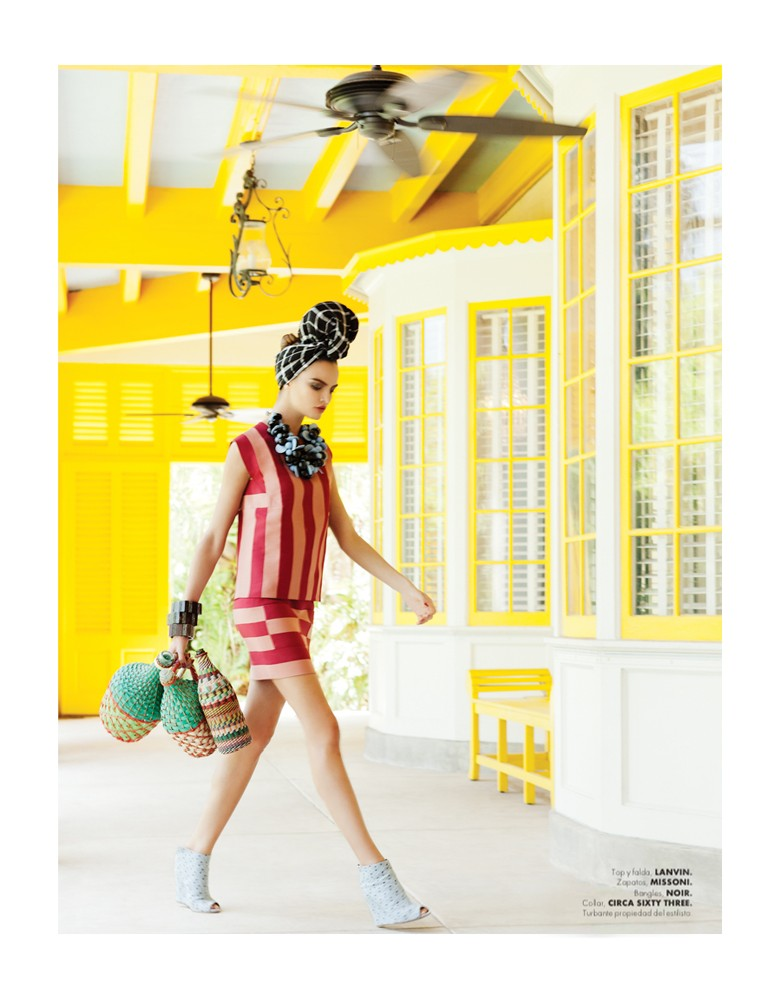 BarbaraElle4 Barbara Fialho Gets Tropical for Elle Mexico January 2013, Shot by Danny Cardozo
