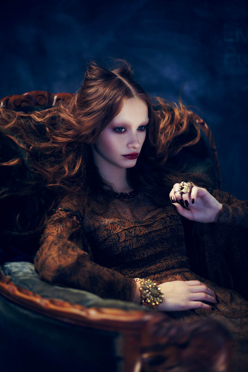 BeautyDress1 Ran and Maya Are Gothic Glam for Dress to Kill Magazine by Shayne Laverdière