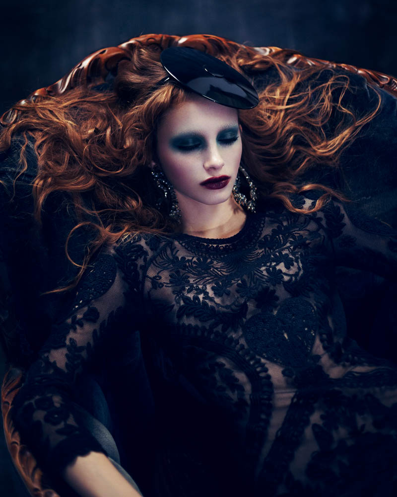 BeautyDress3 Ran and Maya Are Gothic Glam for Dress to Kill Magazine by Shayne Laverdière