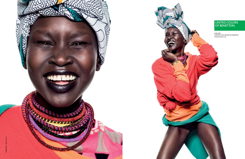 BennetonSpring1 Alek Wek, Charlotte Free, Lea T. and Elettra Wiedemann Front United Colors of Benettons Spring 2013 Campaign